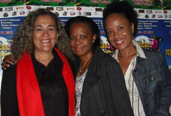 Patricia Miranda, Leticia Achils y Lorraine Washington